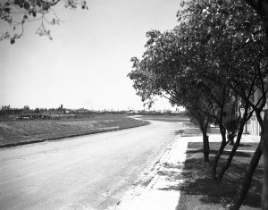 1938 Moss at Dumaine corner (looking towards Canal St) before street was paved