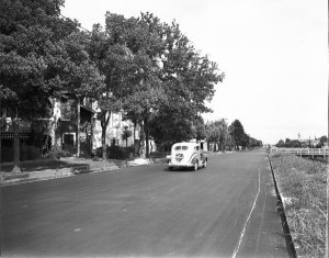 1938 N Hennessey St at Orleans Ave (looking toward bayou) just after paving