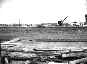1938 where Moss St dead ended at Jeff Davis street - before the Orleans bridge was built