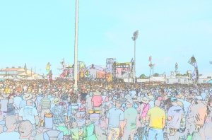 Jazz Fest in cartoon
