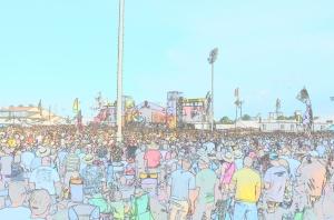 Jazz Fest in cartoon