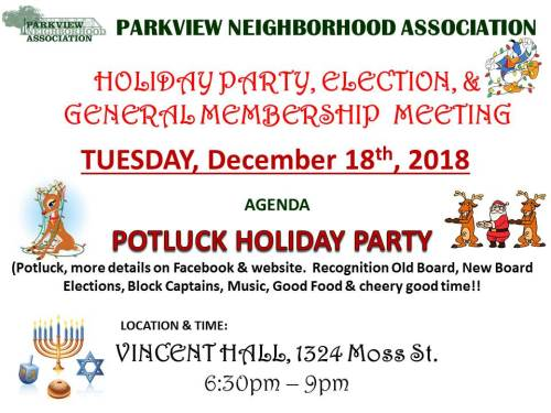 Holiday Party General Meeting Dec 18 2018